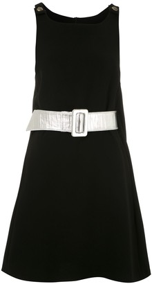 Couture belted Pullover dress