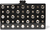 Edie Parker Jean Embellished Glittered Acrylic Box Clutch - Black