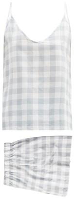 General Sleep - Summer Organic-cotton Gingham Pyjama Set - Blue Print
