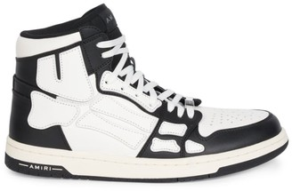 Amiri Skeleton High-Top Leather Sneakers