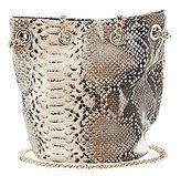 Charlotte Russe Faux Snakeskin Bucket Bag