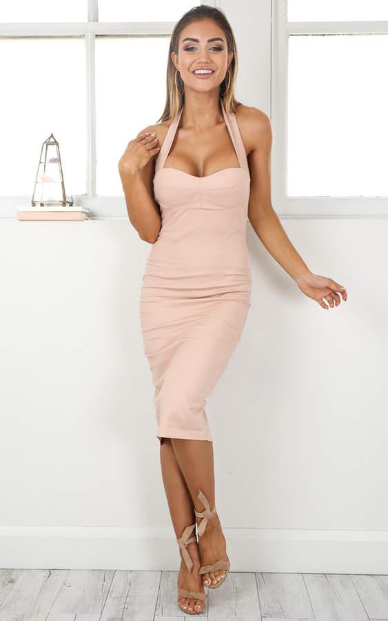 Showpo World Of Beauty dress in beige