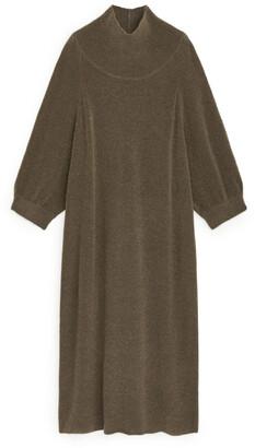 Arket Knitted High Neck Wool Dress