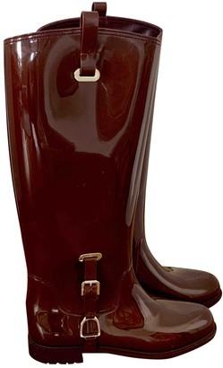 Ralph Lauren Brown Rubber Boots