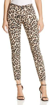 Paige Verdugo Ankle Skinny Jeans in Sahara Leopard