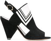Nicholas Kirkwood geometric sandals - women - Calf Leather/Suede/Kid Leather - 37