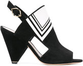 Nicholas Kirkwood Labyrinth Opticollage peep-toe boots