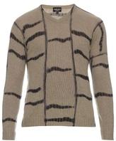 Giorgio Armani Tie-dye Effect Striped Cashmere Sweater