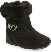 MICHAEL Michael Kors 'Baby Kelly' Quilted Fur Bootie (Baby)