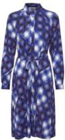 Gestuz Blue Check Viscose Luanne Shirt Dress - blue | viscose | 36 - Blue/Blue