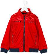 Boss Kids - logo print windbreaker jacket - kids - Polyester - 10 yrs