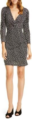 Rebecca Taylor Long Sleeve Dot Jersey Dress