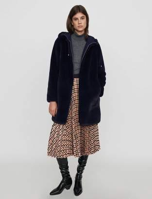 Maje Hooded faux fur jacket