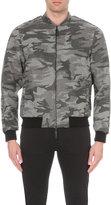 Emporio Armani Camouflage Wool Bomber Jacket