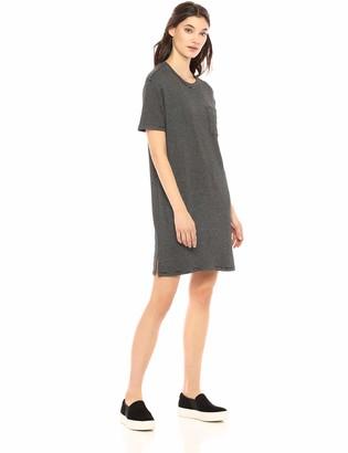 Daily Ritual Amazon Brand Women's Supersoft Terry Short-Sleeve Boxy Pocket T-Shirt Dress