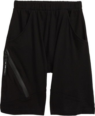 TINY TRIBE Segment Zip Knit Shorts