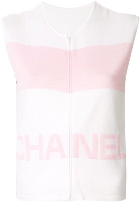 Chanel Pre Owned 2000 Sleeveless Logo Top