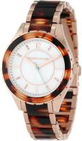 Kenneth Jay Lane Women's KJLANE-2209 Dial Rose Gold Ion-Plated Stainless Steel and Brown Tortoise Resin Watch
