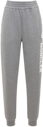Moncler Logo Cotton Fleece Sweatpants