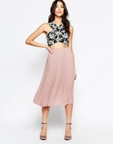 Lavand Pleated Midi Skirt