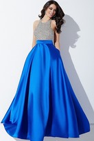 Jovani High Neck Beaded Halter Ballgown Prom Dress 29160