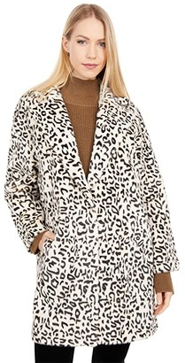 Love Token Gale Leopard Faux Fur Coat (Cheetah) Women's Coat