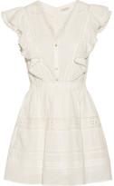 LoveShackFancy Sylvie Embroidered Cotton-voile Mini Dress