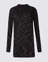 Marks and Spencer Space Dye Funnel Neck Long Sleeve Tunic