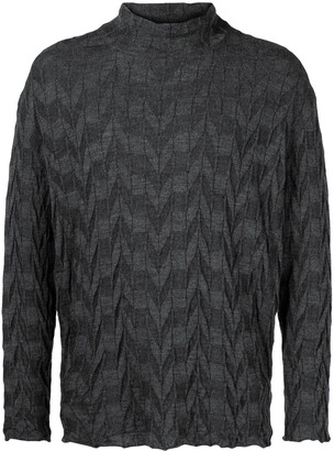 Issey Miyake Pre-Owned zigzag pattern jumper