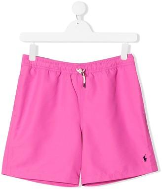 Ralph Lauren Kids TEEN embroidered logo swim Shorts