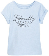 Kate Spade Fashionably Late Tee (Toddler & Little Girls)