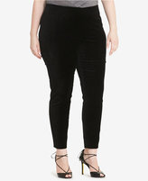 Lauren Ralph Lauren Plus Size Stretch-Velvet Skinny Pants