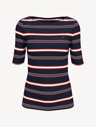 Tommy Hilfiger Essential Stripe Boatneck T-Shirt