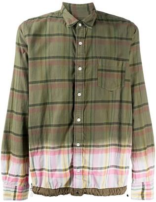 Sacai dip-dye check shirt