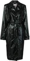 Thumbnail for your product : Christopher Kane Iridescent Oil Trench Coat