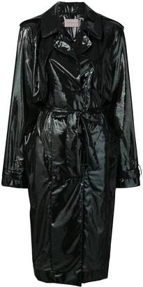 Christopher Kane Iridescent Oil Trench Coat