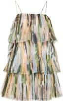 Aje Paperbark Sunray Pleated Dress