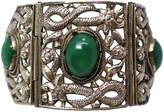 One Kings Lane Vintage Chinese Sterling & Serpentine Bracelet