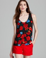 Vince Camuto Rose Print Tank