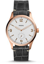 Fossil Vintage 54 Two-Hand Sub-Second Black Croco Leather Watch