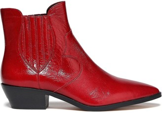 Rebecca Minkoff Cracked Patent-leather Ankle Boots