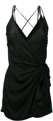 ATTICO mini wrap dress