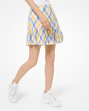 MICHAEL Michael Kors Plaid Mini Skirt