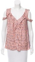 Marc Jacobs Sleeveless Floral Print Top