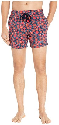 Vilebrequin Christmas Crackers Moorise Swim Trunks (Blue Marine) Men's Swimwear