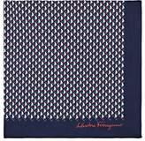 Salvatore Ferragamo Men's Nautical-Motif Cotton Pocket Square