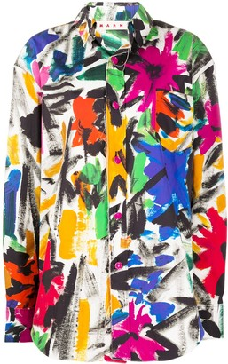 Marni Brush Stroke-Print Shirt