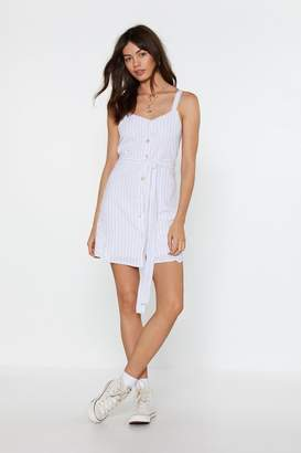 Nasty Gal Womens It'S A Fine Line Button Mini Dress - White - L, White