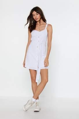 Nasty Gal Womens It's a Fine Line Button Mini Dress - white - L