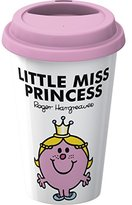 Mr Men & Little Miss Creative Tops Mr. Men Little Miss Princess Take Away Double Walled Porcelain Travel Mug, Multi-Colour